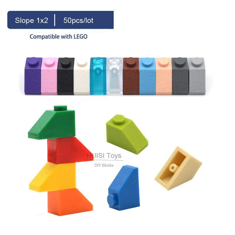 Lego 10 White 2x1 Inverted brick block Slopes NEW
