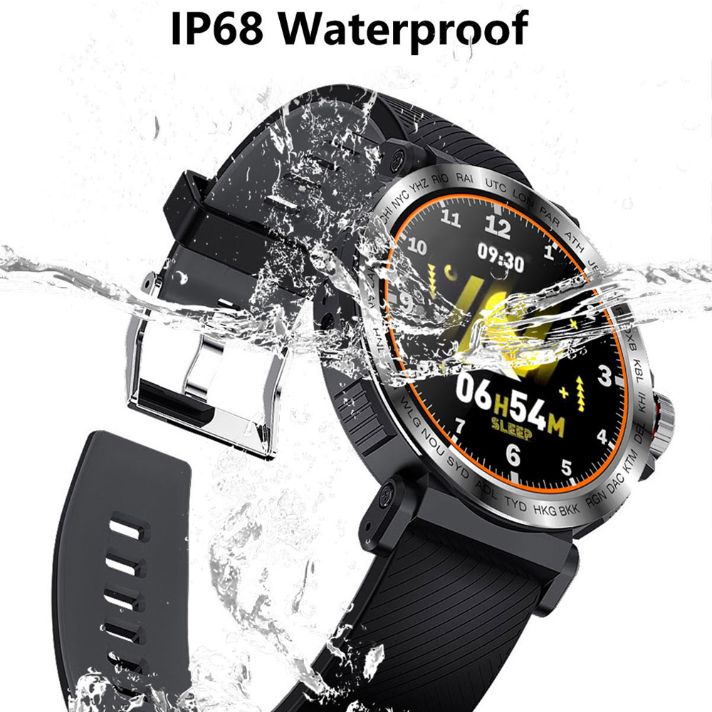 SENBONO S18 Full Screen Touch Smart Watch IP68 waterproof Men Sports Clock Heart Rate Monitor  Smartwatch for IOS Android phone