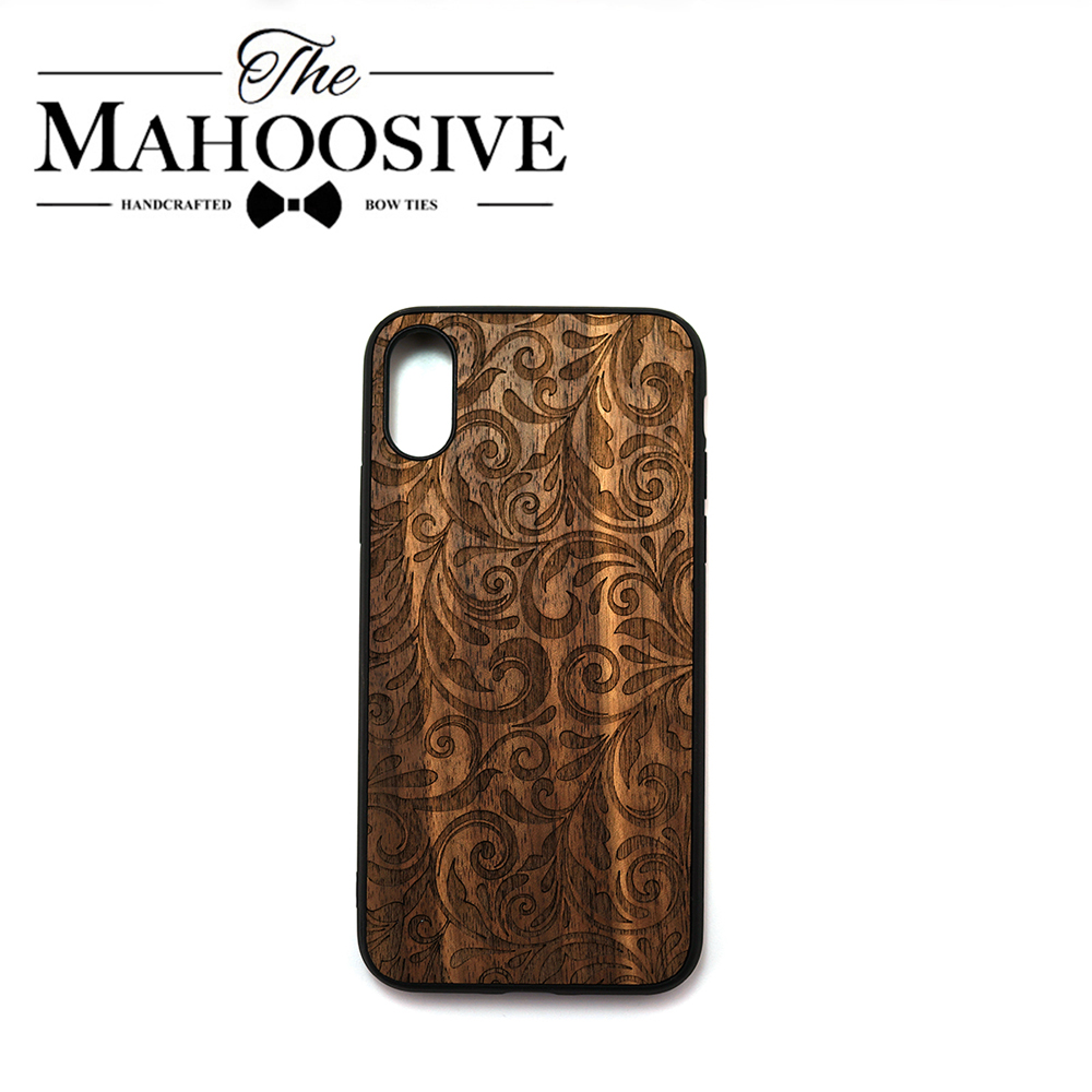 Wood Phone Cases For IPhone 11 11 Pro Max XR XS Max X 8 7 6 6S Plus SE 2 Walnut With Pattern Back Cover Engraved