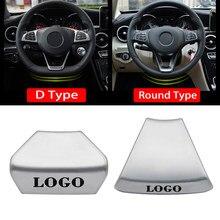 Autocollants de décoration de volant de voiture, Badge emblème de couverture pour Mercedes Benz AMG W212 W213 E200 E300 C classe E GLA GLC nouveau
