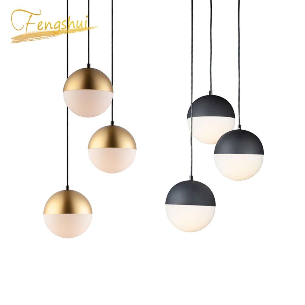 Modern Glass Pendant Lights Lighting Bedroom Living Room Kitchen