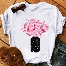Розовая футболка с принтом розы женская клоуном для друзей femme
