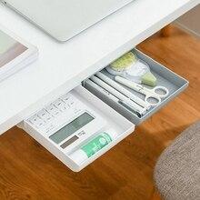 Self Stick Pencil Tray Under Desk Table Storage Drawer Type Organizer Box 37MF