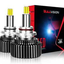 Bullvision 360 H1 H7 Led 20000LM 헤드 H11 HB3 HB4 LED 램프 H8 H9 9012 Hir2 자동차 전구 9005 9006 12V 안개 램프