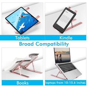 Image 3 - אנכי נייד Stand עבור Macbook Air Pro 13 15 שולחן עבודה אלומיניום Stand עם מתכוונן Dock גודל עבור משטח Chromebook