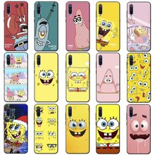 Spongebob squarepants  anime Cover for samsung galaxy a50 a70 a30 a40 a20 s8 s9 s10 plus Clear Soft Silicone Phone Case