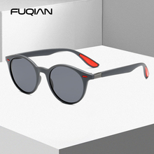 FUQIAN Fashion Round Men Polarized Sunglasses Women Vintage Plastic Sun Glasses For Male Anti Glare Driving Shades Eyewear UV400