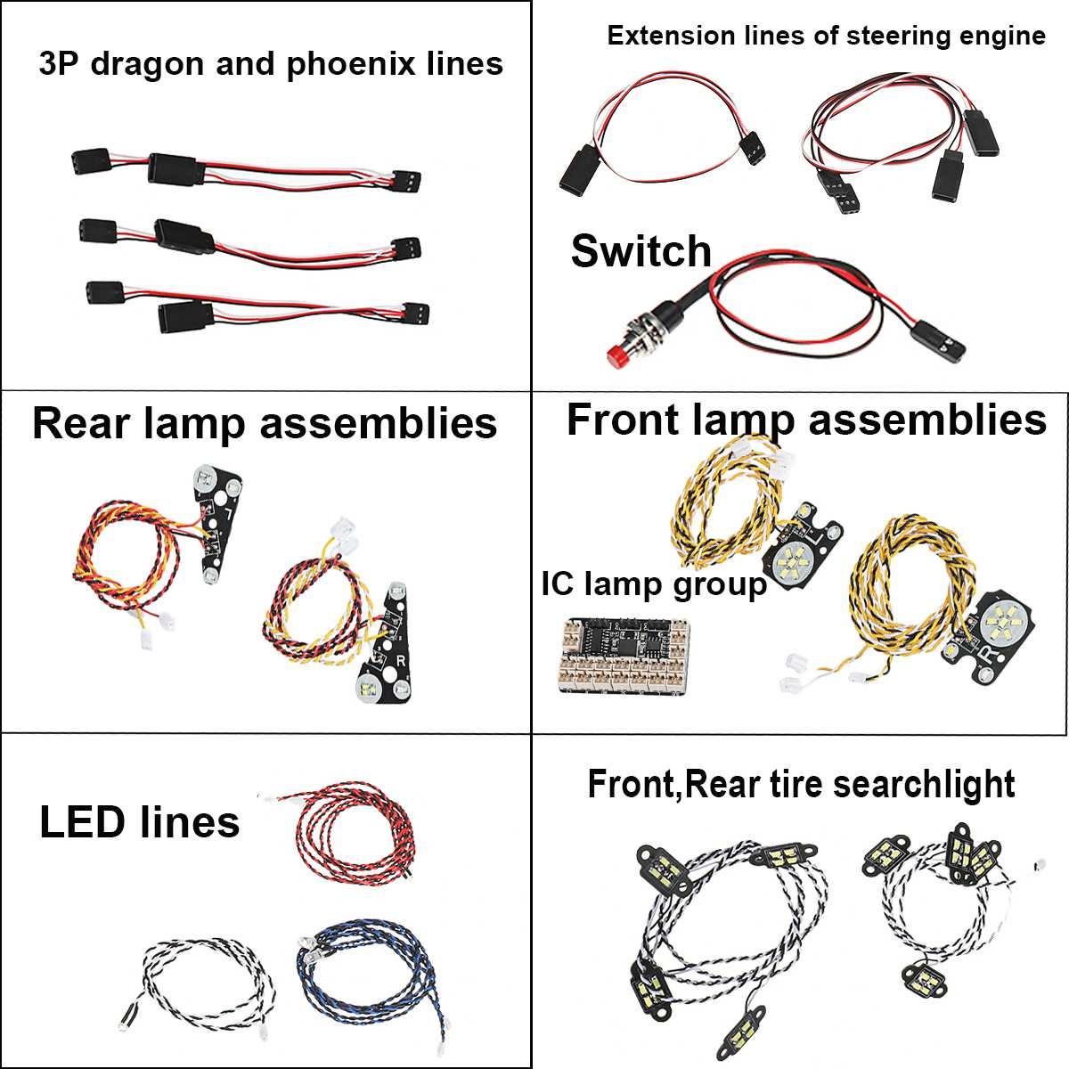 45 Uds. LED reflector delantero trasero de neumáticos luz de techo IC grupo de lámpara para Trx4 - 3