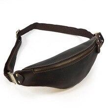 MAHEU Leather waist bag summer outdoor running bag chest packs genuine leather fanny pack men male waist bag bum bag for sport