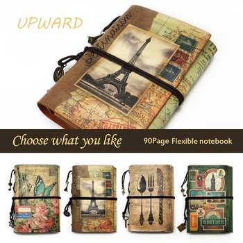 Travelers Notebook,Creative Vntage Leather A6  Travel Planner,Memo DiaryTravel Journal Notepad,Pplanner Diary Notebook