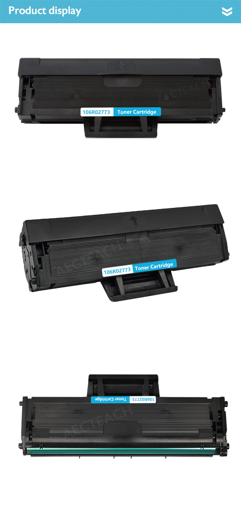 3Pack Black 106R02773 Compatible Toner Cartridge for Xerox WorkCentre 3025 3020