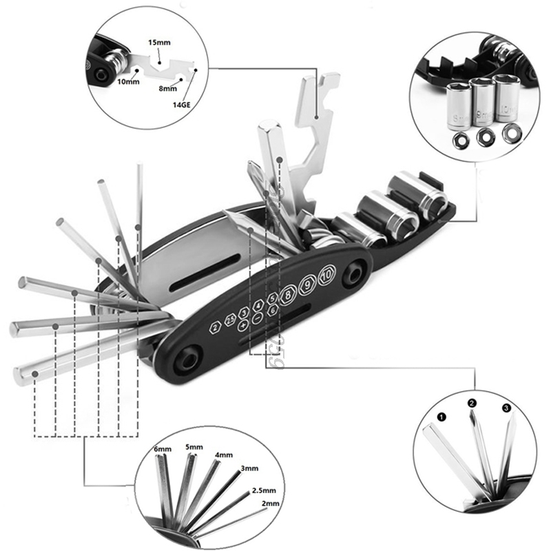 Motorcycle accessories Screwdriver for Parts Honda <font><b>Nsr</b></font> Suzuki Skywave <font><b>250</b></font> Moto Guidon Xv250 Kxf bolts 16 in 1 Fix tool cover image