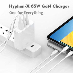 Image 2 - Tquq 3 Poort 65W Gan Usb C Lader Qc 4.0 3.0 Type C Pd Usb Fast Charger Voor macbook Pro Xiaomi Laptop Iphone Samsung Tablet