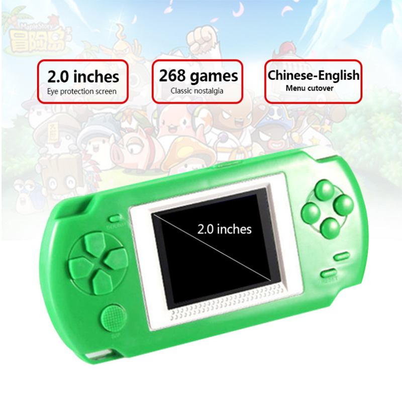 268 game console With 268 Different Games 2 Inch Screen Child 502 Color Screen Display Handheld Game Consoles Game Player