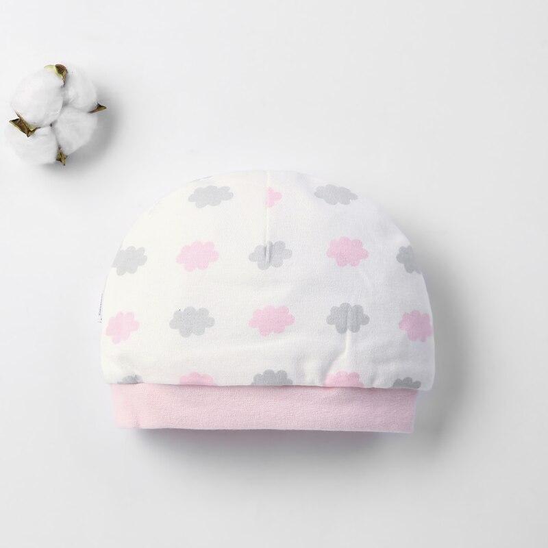 Детская шапка для 0-12 месяцев, хлопок, унисекс, мягкая милая детская шапка, шапка для новорожденных мальчиков и девочек на все сезоны, Мультяшные Шапки для малышей - Цвет: Белый