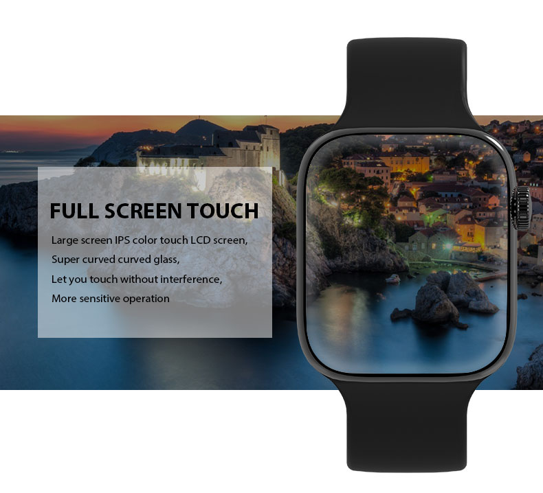 F9 s PK iwo8 b57 Touch Screen smart watches to Monitor Heart rate and Blood pressure Supported for IOS Android for men women 25