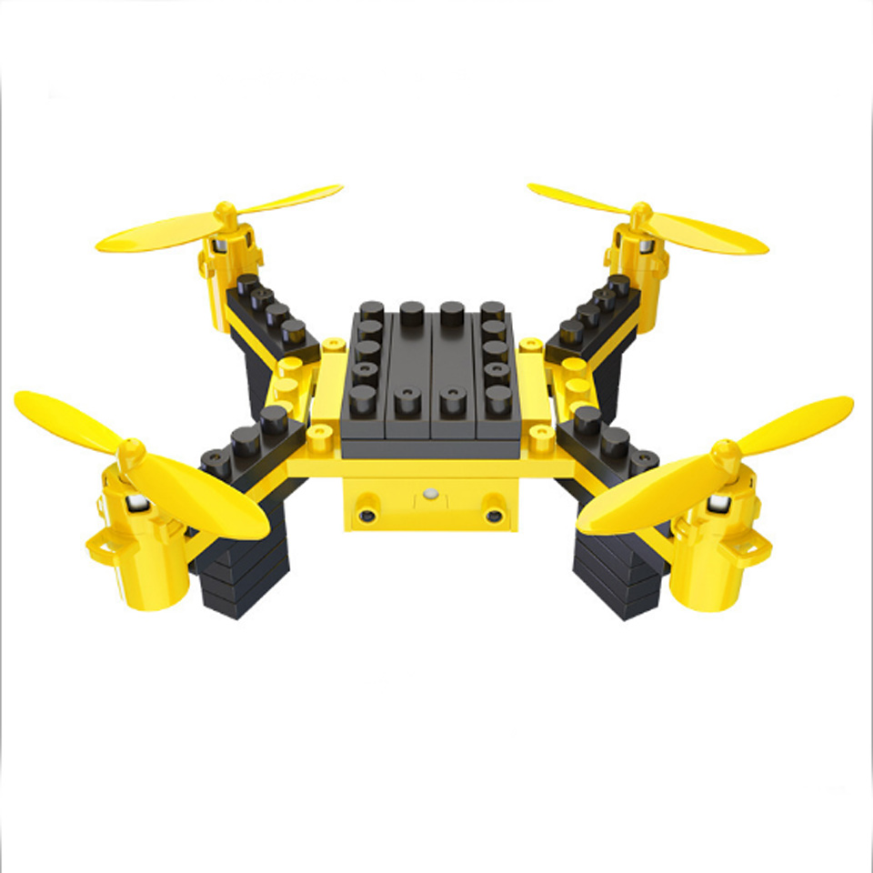 DIY Drone RC Quadcopter With Camera Building Blocks Flying Drone With High Hold Mode RC Helicopter With Headless Mode Kid's Toy
