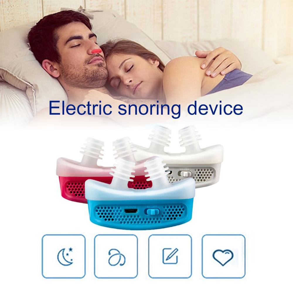 Micro CPAP Anti Snoring Electronic Device for Sleep Apnea Stop Snore Aid Stopper