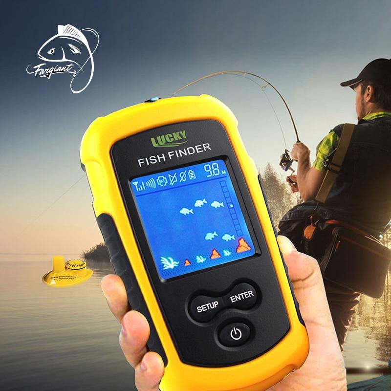 FARGIANT FFW1108-1 Tragbare Fish Finder Tiefe Sonar Echolot Alarm Wasserdichte Echo Unterwasser Kamera Für Angeln
