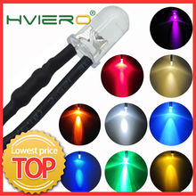 1Pcs F5 5mm Round 20cm Pre Wired DC 12V LED Lamp Light Bulb White Red Blue Green Yellow White Warm White Diode Emitting Diodes(China)