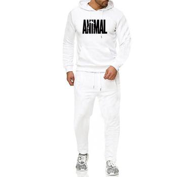 Men Hip -Hop Hoodie Printing casual Men 'S Fall And Winter Thick Sweater Suit Hoodie + pant home set men cut and sew panel hoodie