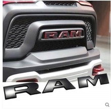 3D Metal Emblem Badge RAM Grill Sticker Car Styling for Dodge Charger RAM 1500 Caliber Journey Car Accessories kadulee pu leather universal car seat covers for dodge all models caliber journey ram caravan aittitude car styling accessories