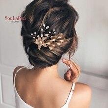 TOPQUEEN HP307 Bridal Hair Accessories Crystal Hair Combs Wedding Hair Clips Bridal Hair Jewelry Handmade Women Hair Ornament