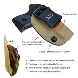 Image 5 - BBF Make IWB KYDEX Holster Custom Fits: Ruger LCP 380 Gun Case Inside Concealed Carry Waistband Pistol Pouch With Belt Clip