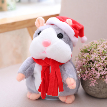 New Talking Hamster Mouse Pet Christmas Toy Speak Talking Sound Record Hamster Educational Plush Toy for Children Christmas Gift hamster ball electric toy plush hamster electric toys scroll walk little toy animal for children gift electronic pets toy