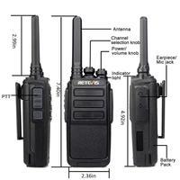 מכשיר הקשר 2pcs Retevis RT28 מכשיר הקשר 2W CTCSS & DCS VOX UHF מיקרו- USB תדר מטען שני הדרך רדיו תחנת רדיו חובבים משדר Hf (2)
