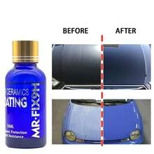 9H coche líquido revestimiento de cerámica para coches cristal hidrófobo abrigo pintura para cuidado de moto Anti-arañazos de Auto para detallado de coches