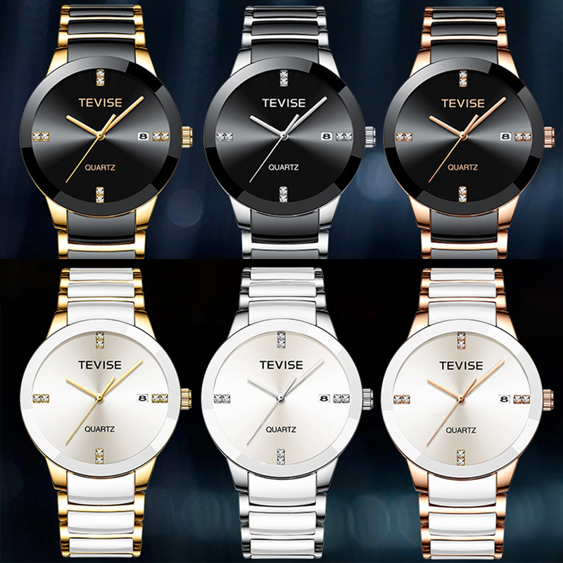 Tevise Men 39 s Waterproof Quartz Watches Top Brand Luxury Fashion Ceramic Sports Watches For Male Wristwatch Relogio masculino in Quartz Watches from Watches