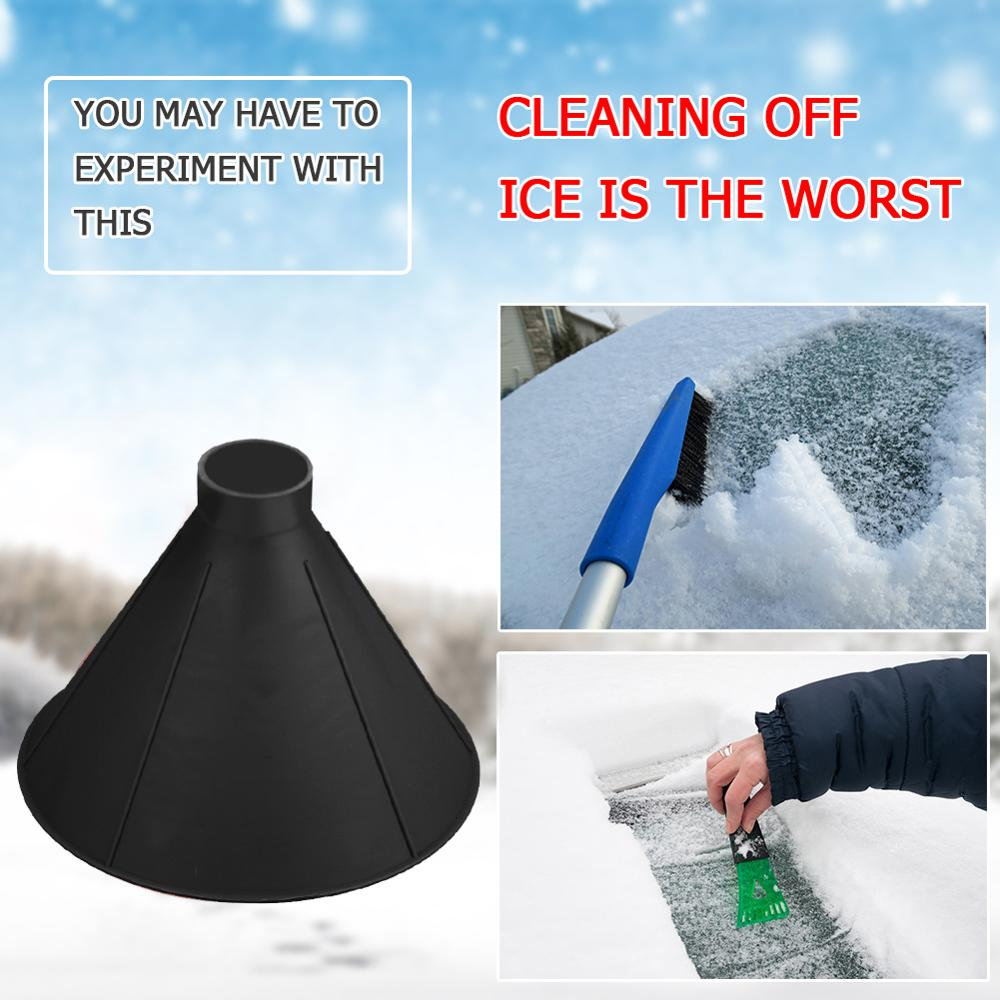 1pcs Auto Car Magic  Window Windshield Car Ice Scraper Shaped Funnel Snow Remover Deicer Cone Deicing Tool For Drop Shipping