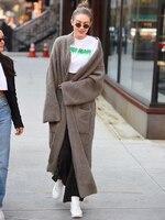Autumn Fashion Long Cardigan For Women 2019 Vintage Loose Knit Sweaters Women's Casual Oversized Jacket Coat