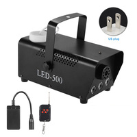 Light Fog Machine Wireless Stage RGB Smoke Remote Control Party Portable Multi color