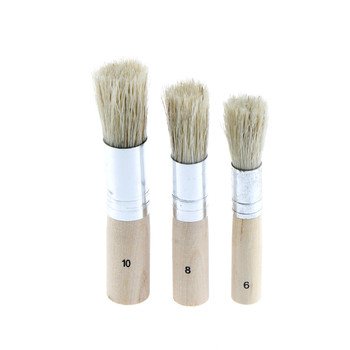 New 3Pcs/Set Wooden Stencil Brush Hog Bristle Brushes Acrylic Watercolor Oil Painting School accessories - discount item  20% OFF Art Supplies