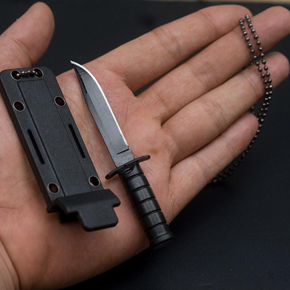 Portable Mini Necklace Blade Fruit Knife Camp Outdoor Hunt Survive Hike Edc Pocket Self Defense Box Letter Package Open Opener