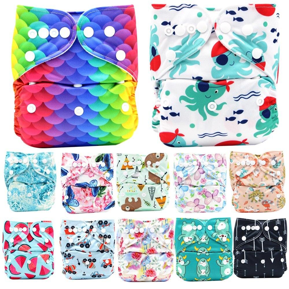 Новые детские тканевые подгузники Asenappy, Регулируемые Моющиеся Многоразовые подгузники для мальчиков и девочек