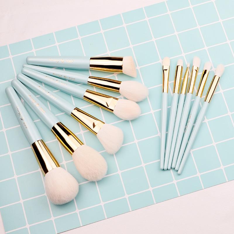 My Destiny/lake Blue Series Makeup Brush Set Full Set Of Animal Hair Real Wool Beginner Makeup Brush Makeup Pen