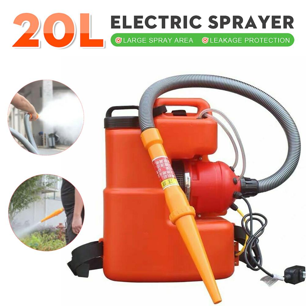110V 20L ULV Sprayer Portable Electric Cold Fog Machine ULV Atomizer Hotel Residential Community Office Industrial Disinfection