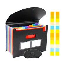 Accordion File Organizer Desktop Expanding File Folder 12/ 24 Pockets School Office Portable A4 Document Paper Folder