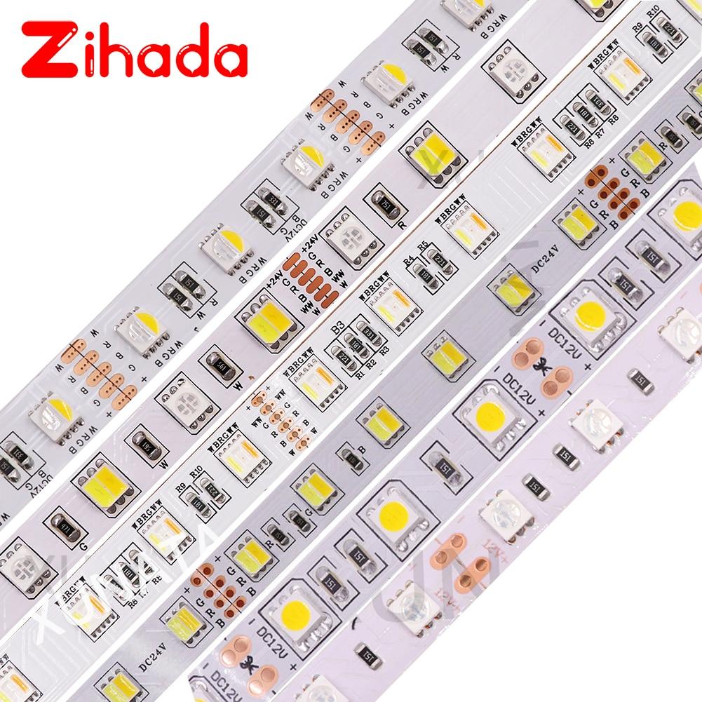 5050 RGB LED Strip 60LEDs/m RGBW RGBWW RGB CCT White Warm White LED Light Strip Waterproof 12V LED Lighting For Indoor Home