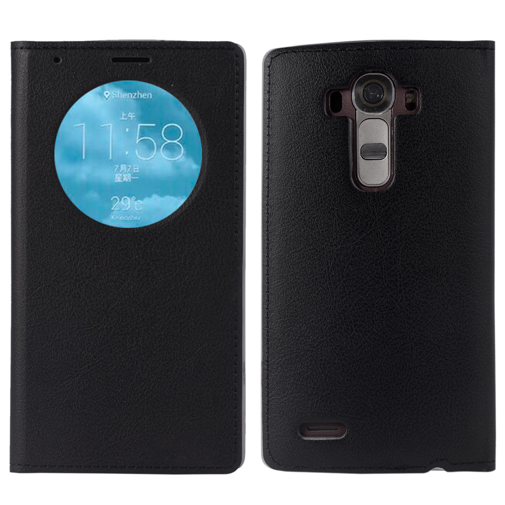 Smart View Flip Cover Luxury Leather Phone Case For LG G4 G3 Optimus G 4 G 3 LGG4 LGG3 H818 VS999 Holster D855 F400k Auto Sleep image