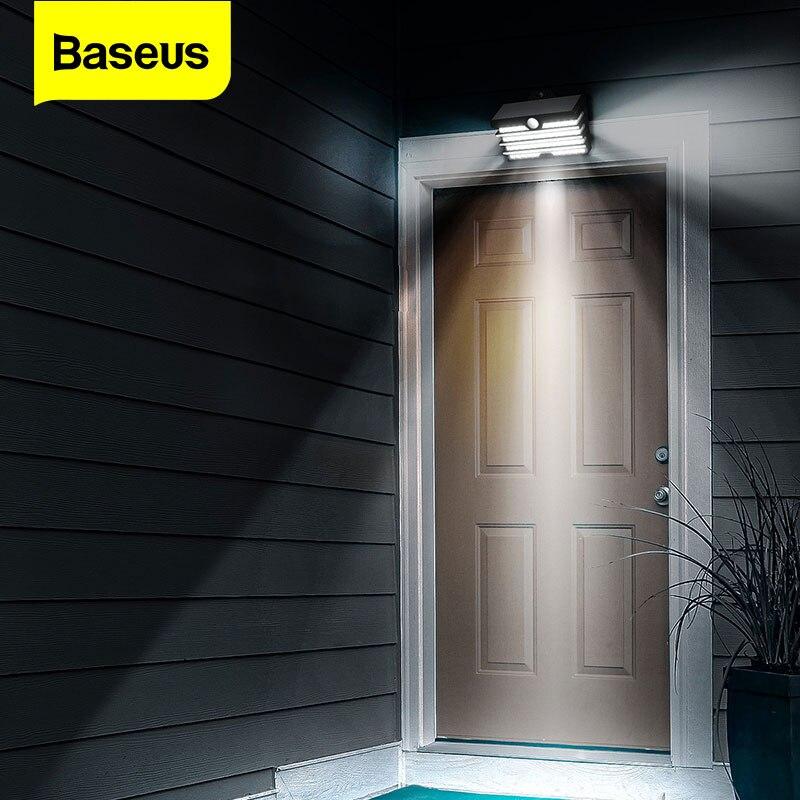Baseus Solar Energie LED Outdoor Solar Licht Motion Sensor Wand Licht Lampen Wasserdichte Solar Garten Landschaft Rasen Lampe Sonne Licht