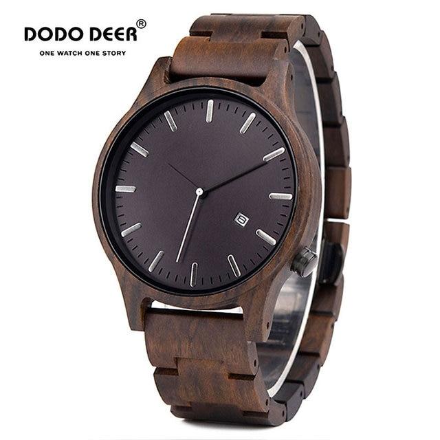 DODO DEER Men Wood Watch Stylish Simplicity Calendar Quartz Sport Male Relogios Masculino Wristwatches Men Shock Gift for Him