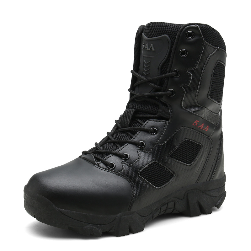2018 New Style Special Forces Combat Boots Plus-sized Menswear Outdoor Work Boots 511 Army Fans Outdoor Training Boots Jungle Hi
