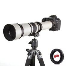 650 1300mm F8.0 16 סופר טלה ידני זום מצלמה עדשה + T2 מתאם עבור DSLR Canon Nikon Pentax אולימפוס sony A6500 A7III X T3