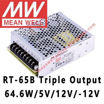 Mean Well RT-65B 5 V 12 V -12 V AC DC 64 6W potrójne przełączanie wyjścia zasilacz meanwell sklep internetowy tanie i dobre opinie CN (pochodzenie) 0-5A 47-63Hz Trzyosobowy 51-100 w