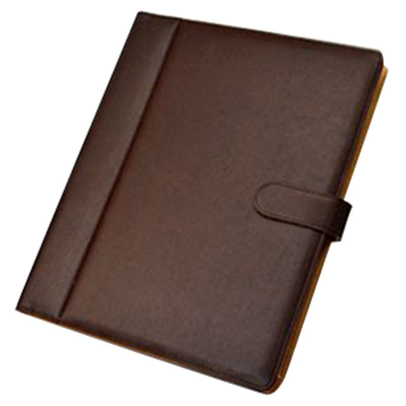 Brown Multi-Function A4 Folder Pu Leather Multi-Function Folder Office Supplies Business Manager With Calculator
