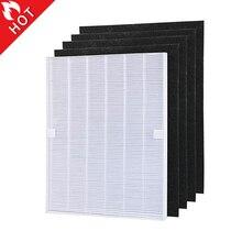 4 sztuk części do oczyszczania powietrza węgla filtry wstępne i 1 sztuka główny filtr HEPA dla Winix 115115 5300 5500 6300